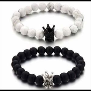 Jewelry - * His & Hers Bracelets King & Queen Couples